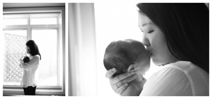 lifestyle photographer for newborns in chicago